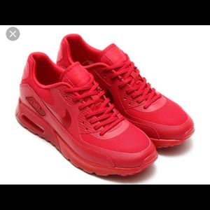 All Red Nike air max size 6. Like new
